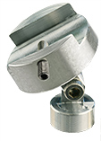 EM-Tec HS19 swivel clamp for up to 16mm samples, aluminium, M4